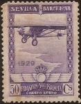 de Europa - España -  Pro Expo Sevilla Barcelona  1929  aéreo 50 cents