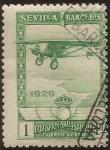 de Europa - España -  Pro Expo Sevilla Barcelona  1929  aéreo 1 pta