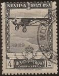 de Europa - España -  Pro Expo Sevilla Barcelona  1929  aéreo 4 pta