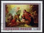Sellos de Europa - Hungría -  COL- 'A PASZTOROK IMÁDÁSA' o 'Adoración de los pastores' POR FRANCESCO FONTEBASSO -