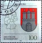 Sellos del Mundo : Europa : Alemania : Scott#1704 intercambio, 0,55 usd, 100 cent. 1992
