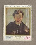 Sellos de Europa - Rumania -  Stefan Popescu, Autoretrato