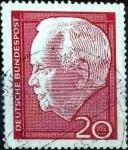 Sellos de Europa - Alemania -  Scott#881 intercambio, 0,20 usd, 20 cent. 1964
