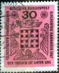 sellos de Europa - Alemania -  Scott#972 intercambio, 0,20 usd, 30 cent. 1967