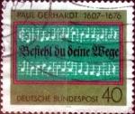 sellos de Europa - Alemania -  Scott#1215 intercambio, 0,20 usd, 40 cent. 1976