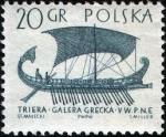 Sellos de Europa - Polonia -  Trirreme griego
