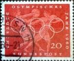 Sellos de Europa - Alemania -  Scott#815 intercambio, 0,20 usd, 20 cent. 1960