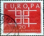 sellos de Europa - Alemania -  Scott#898 intercambio, 0,20 usd, 20 cent. 1964