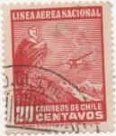 Sellos de America - Chile -  Y & T Nº 25  Aéreo