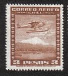 Sellos de America - Chile -  Avión sobre campo