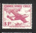 Sellos de America - Chile -  Avión a reacción en las nubes