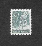 Sellos de Asia - Indonesia -  Alegorías