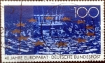 Stamps of the world : Germany :  Scott#1578 intercambio, 0,65 usd, 100 cents. 1989