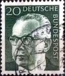 Sellos de Europa - Alemania -  Scott#1030 intercambio, 0,20 usd, 20 cents. 1970