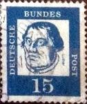 Sellos de Europa - Alemania -  Scott#828 intercambio, 0,20 usd, 15 cents. 1961