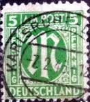 Sellos de Europa - Alemania -  Scott#3N4a intercambio, 0,35 usd, 5 cents. 1945