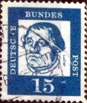 Sellos de Europa - Alemania -  Scott#828 intercambio, 0,20 usd, 15 cents. 1961