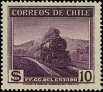 Stamps Chile -  Ferrocarriles estatales