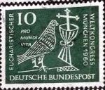 sellos de Europa - Alemania -  Scott#811 intercambio, 0,45 usd, 10 cents. 1960