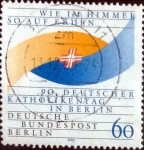 Stamps Germany -  Scott#9N590 intercambio, 1,50 usd, 60 cents. 1990