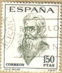 Stamps : Europe : Spain :  Literatos - VALLE INCLAN