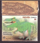Stamps Spain -  serie- dinosaurios