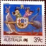 sellos de Oceania - Australia -  Scott#1063b intercambio, 0,30 usd, 39 cents. 1988