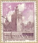 Sellos de Europa - España -  Paisajes y Monumentos - TORRE DEL ORO en SEVILLA
