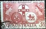 Sellos de Oceania - Australia -  Scott#287 intercambio, 0,20 usd, 3,5 pens. 1956