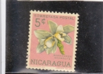 Sellos del Mundo : America : Nicaragua : FLORES- STANHOREA ECORNUTA