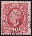 Sellos de Europa - Suecia -  OSCAR II-  Rey de Suecia y Noruega