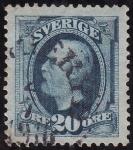 Sellos del Mundo : Europa : Suecia : OSCAR II-  Rey de Suecia y Noruega
