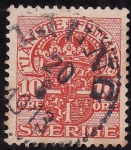 Stamps Sweden -  Escudo real de Suecia