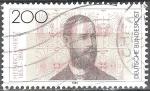 Sellos del Mundo : Europa : Alemania : Centenario de la muerte de Heinrich Hertz,físico.