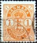 Sellos de Europa - Dinamarca -  Scott#53  intercambio, 0,55 usd, 1 cents. 1902
