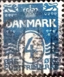 Stamps of the world : Denmark :  Scott#60 intercambio, 0,60 usd, 4 cents. 1905