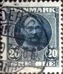 Stamps of the world : Denmark :  Scott#74 intercambio, 0,30 usd, 20 cents. 1907