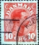 Stamps of the world : Denmark :  Scott#100 intercambio, 0,25 usd, 10 cents. 1913