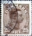 Stamps of the world : Denmark :  Scott#106 intercambio, 0,45 usd, 25 cents. 1913
