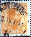 Stamps of the world : Denmark :  Scott#98 intercambio, 1,10 usd, 7 cents. 1918