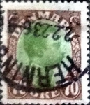Stamps of the world : Denmark :  Scott#125 intercambio, 2,00 usd, 70 cents. 1920