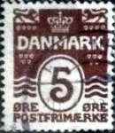 Stamps of the world : Denmark :  Scott#89 intercambio, 0,25 usd, 5 cents. 1921