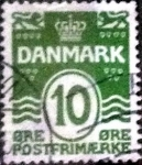Stamps of the world : Denmark :  Scott#94 intercambio, 0,25 usd, 10 cents. 1921