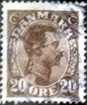 Sellos de Europa - Dinamarca -  Scott#104 intercambio, 0,25 usd, 20 cents. 1921