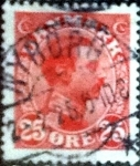 Stamps of the world : Denmark :  Scott#108 intercambio, 0,70 usd, 25 cents. 1922