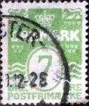 sellos de Europa - Dinamarca -  Scott#91 intercambio, 6,00 usd, 7 cents. 1926