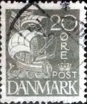 Stamps of the world : Denmark :  Scott#193 intercambio, 1,50 usd, 20 cents. 1927