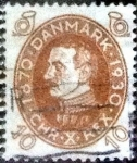 Stamps of the world : Denmark :  Scott#213 intercambio, 0,25 usd, 10 cents. 1930