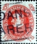 Stamps of the world : Denmark :  Scott#214 intercambio, 0,25 usd, 15 cents. 1930