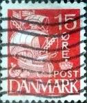 Sellos de Europa - Dinamarca -  Scott#238A intercambio, 0,25 usd, 15 cents. 1933